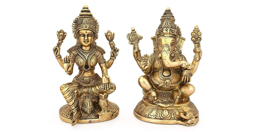 Ganesha and Lakshmi Idol