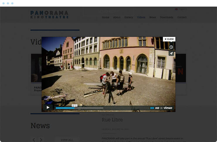 Panorama Kino Theatre Video Player
