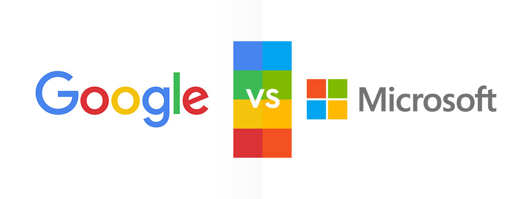 Google and Microsoft choose the same logo colors but not ...