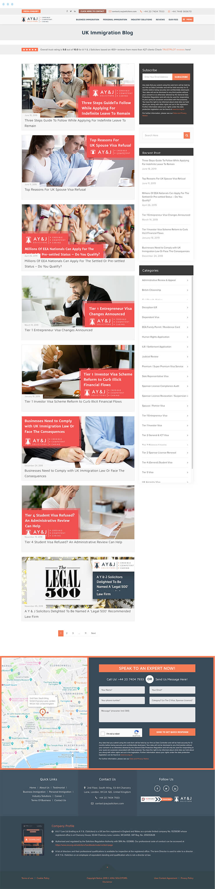 AYJ Solicitors Mockup Blog