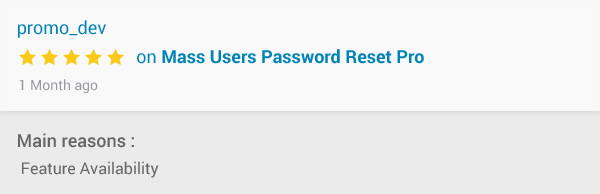 Mass Users Password Reset Pro