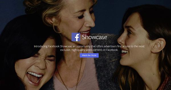 Facebook Announces 'Facebook Showcase' Premium Video Advertising Option