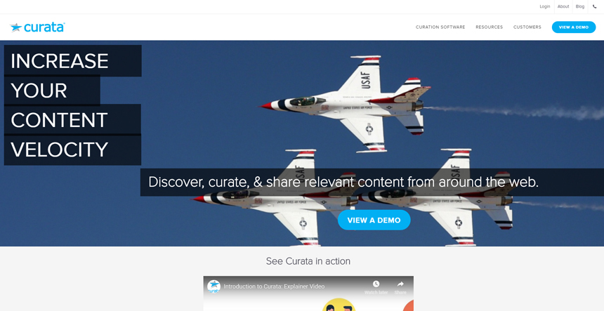 Curata - marketers grow revenue and leads to quality content