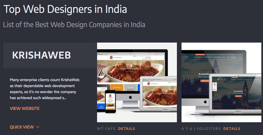 KrishaWeb - Top Web Designers in India