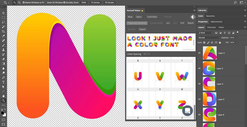 Fontself Maker for Photoshop CC