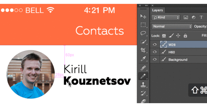 Size Mark - Photoshop Plugin