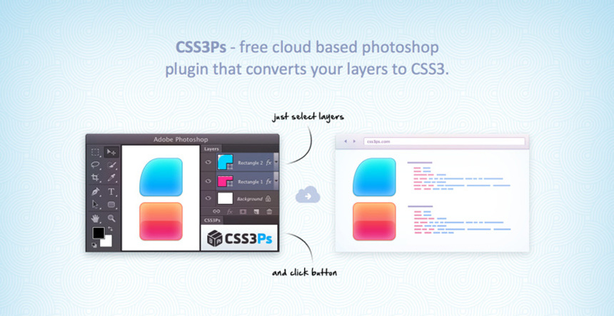 CSS3Ps - Photoshop Plugin