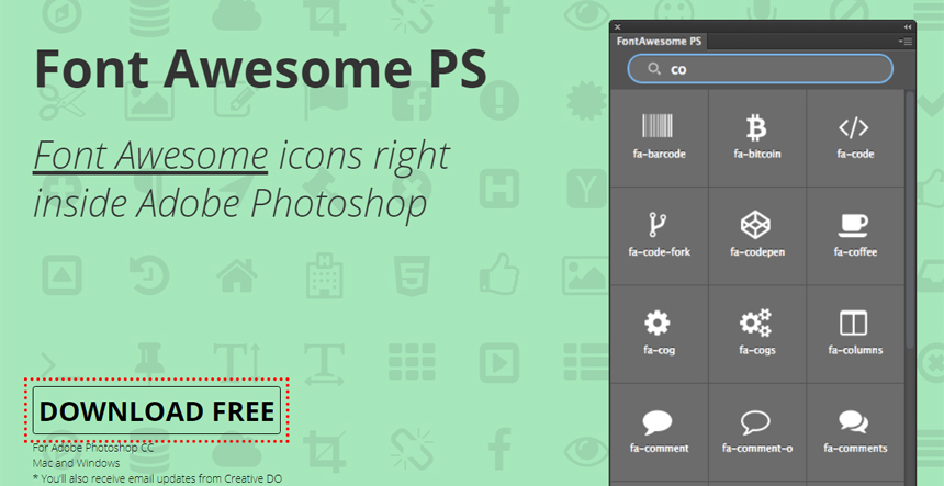 Font Awesome Ps - Photoshop Plugin