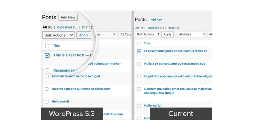 Updated Design and UI - WordPress 5.3