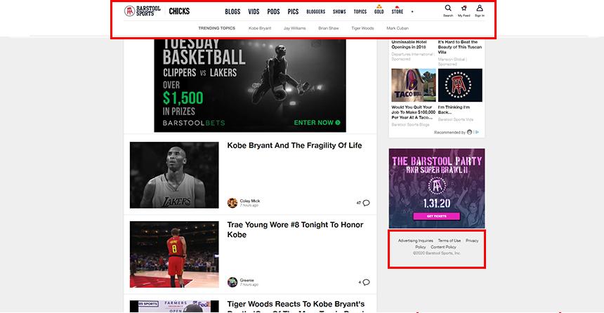 BarstoolSports.com Footer