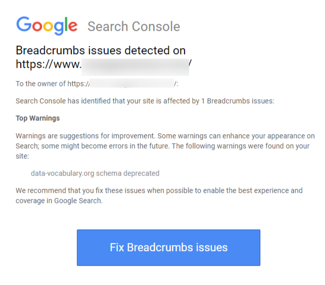 BreadCrumb Issue email