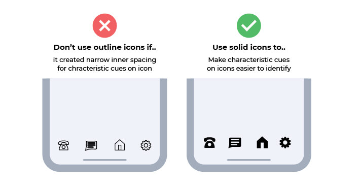 When to Use Solid Icons