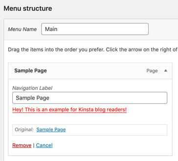 Add custom fields to menu items