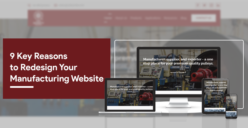Manufacturing website redesign key reasons